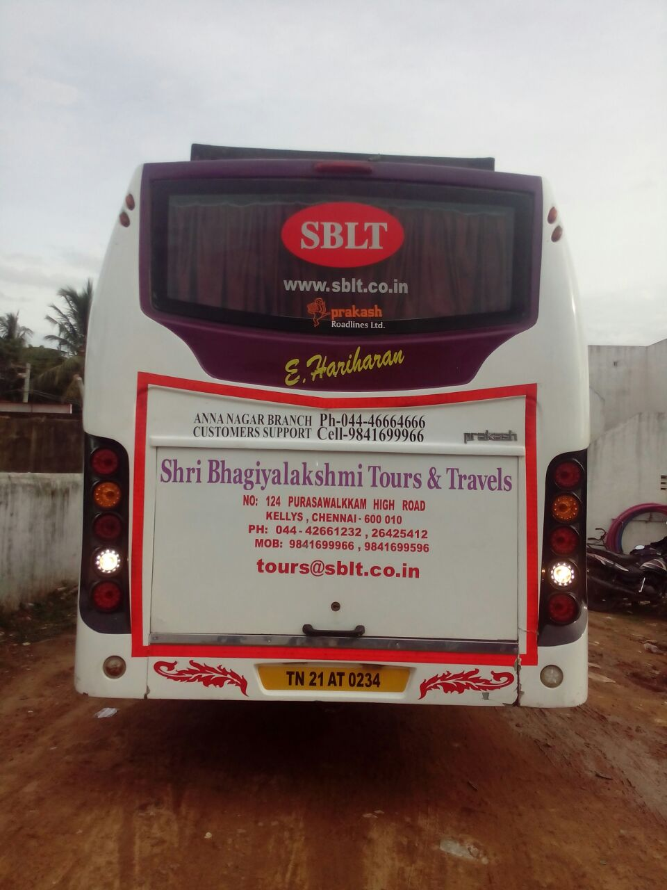 Sblt 35 Seater Rear view
