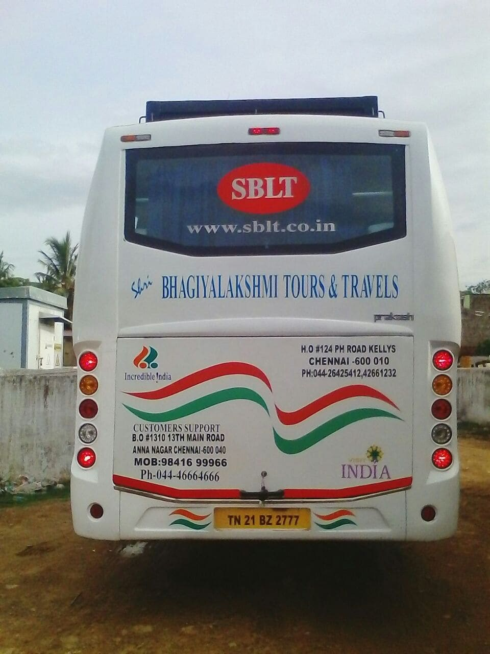 Sblt 45 Seater Back View