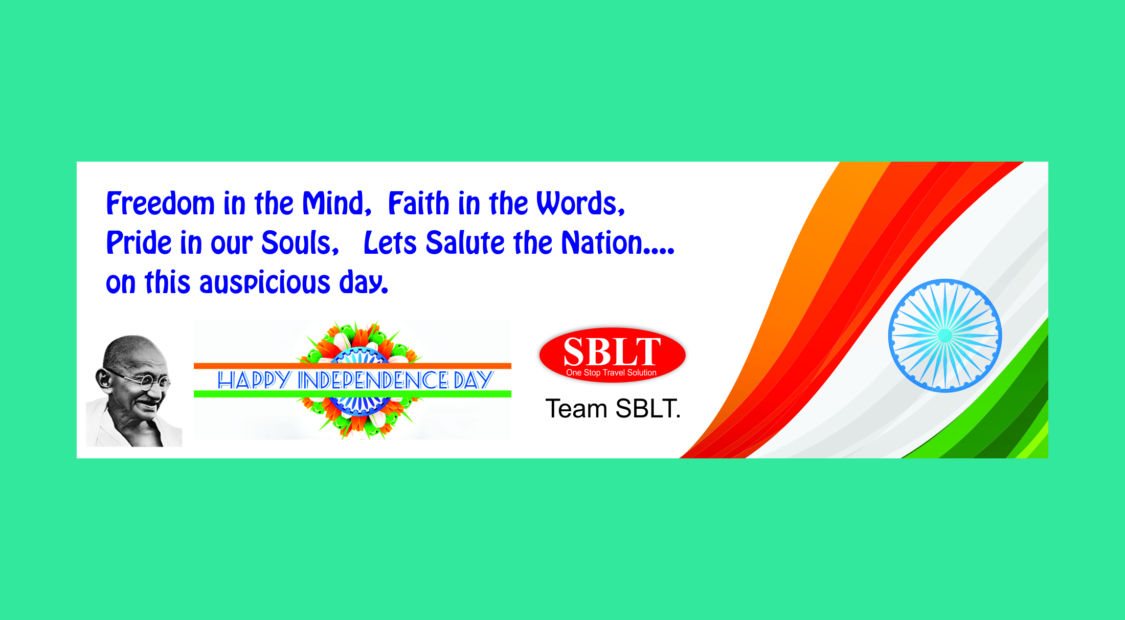 SBLT Independence Day Wishes